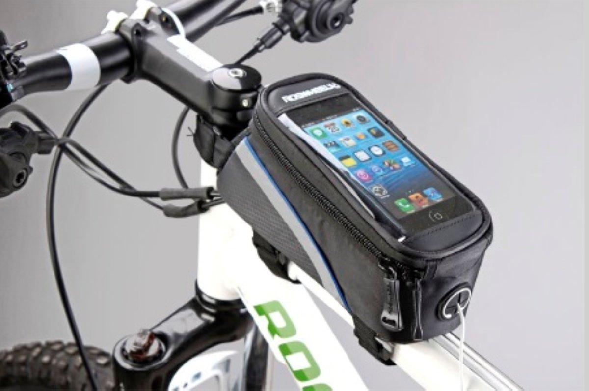 Велосумка MINGDA на раму L20хH9,5хW9, с отделением для смартфона, окошко 4,8