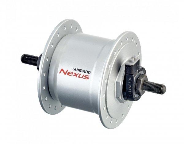 Втулка динамо SHIMANO, 6V 3.0W, 32 отверстия, 100X140 мм, под гайки, серебристая, ADHC30003NNBS