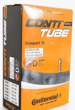 Велосипедная камера Continental Compact 18, 32-355/47-400, D26, данлоп, 181181