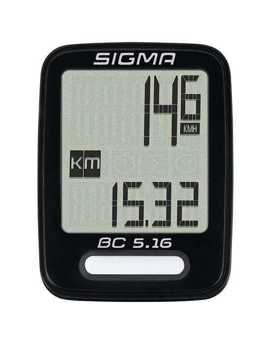 Велокомпьютер SIGMA BC 5.16, 5 функций, проводной, 05160