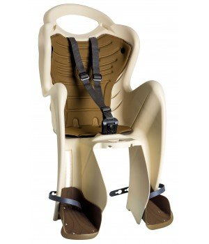 Детское велокресло на подседельную трубу BELLELLI Mr Fox Relax B-Fix, до 22 кг, бежевый, 01FXRB0025M