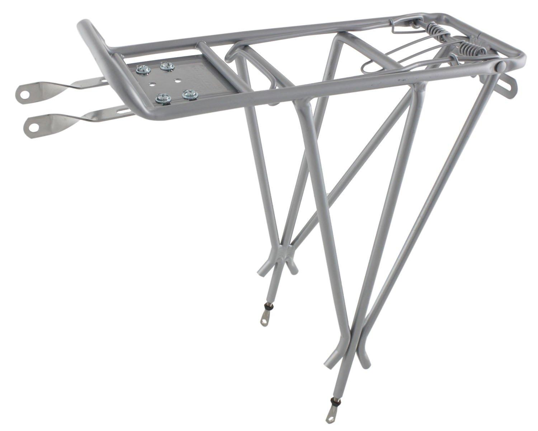 Велобагажник OSTAND CD-20AC, 3-х сточеный, регулируемый, алюминий, серебристый, 6-150021