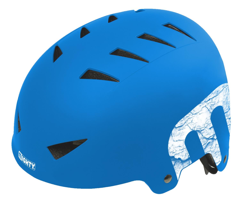 Шлем велосипедный MIGHTY X-STYLE, 14 отверстий, ABS-суперпрочный, 60-63см, матово-синий, 5-731227
