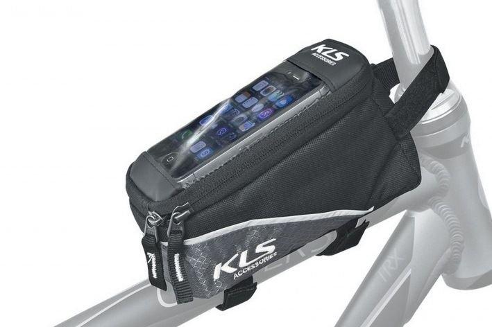 Велосумка на верхнюю трубу рамы KELLYS  ALPHA, 0,9л, крепление на липучке, окошко для смартфона