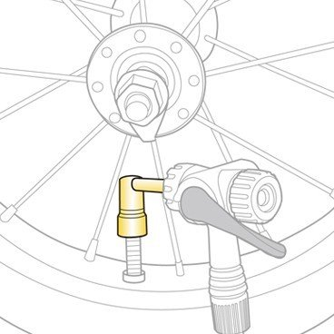 Адаптер для насоса TOPEAK Pressure-Rite Presta Valve Adapter, TFV-03