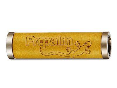 Грипсы PROPALM HY-1027EP-BW, кожаные, 128мм, с 2 грипстопами, с упаковкой