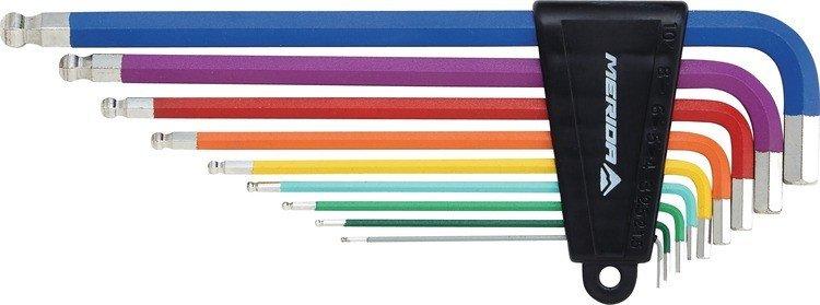 Набор ключей шестигранников Г-образных Merida Colorful, 1.5*2*2.5*3*4*5*6*8*10mm, 405гр, 2137004346