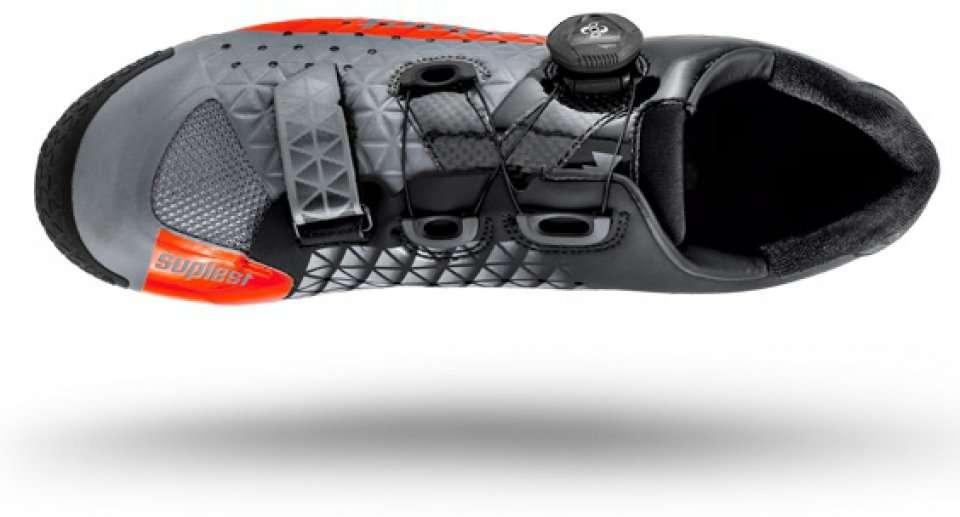 Велотуфли Suplest Crosscountry Edge 3 Carbon Comp, размер 44,5, черно-серо-оранжевый, 02.029.445