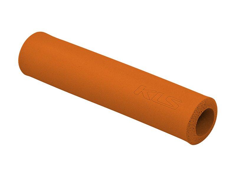 Грипсы KELLYS KLS SILICA, 130 мм, силикон, оранжевый