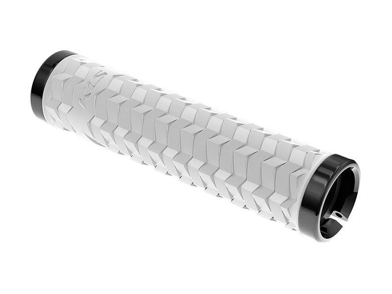 Купить со скидкой Грипсы KELLYS KLS POISON, 135 мм, 2 грипстопа, пластиковые заглушки, белый