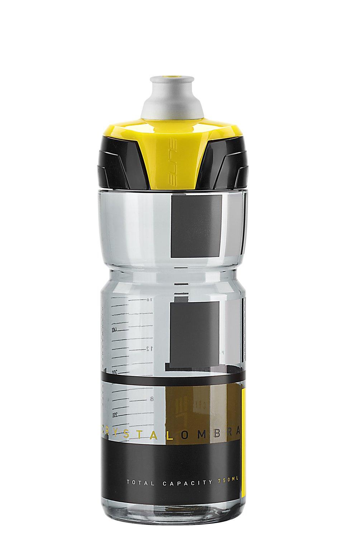 Фляга Elite Crystal Ombra, 0.75 л, дымчатый, желтый рисунок, EL0150512