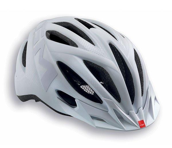 Велошлем MET 20 Miles, матовый белый  (Размер: M (52-58 см) )