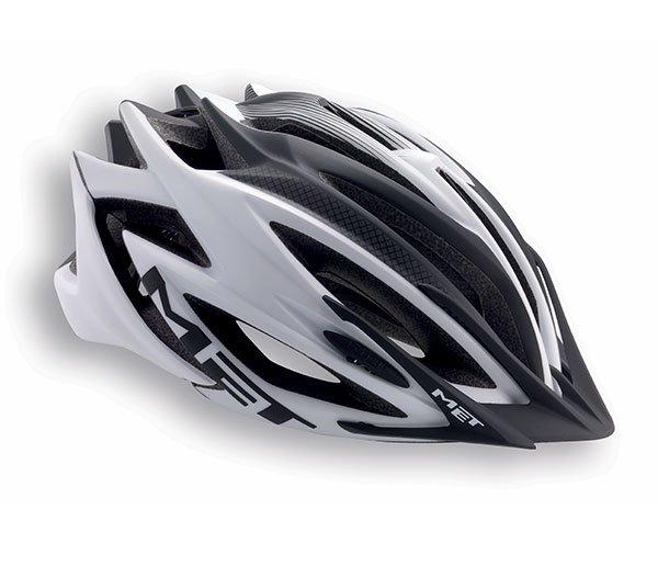 Велошлем MET Veleno, матовый бело-черный  (Размер: M (54-57 см))