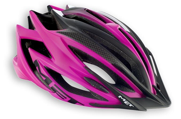 Велошлем MET Veleno, матовый розовый  (Размер: L (58-61 см))