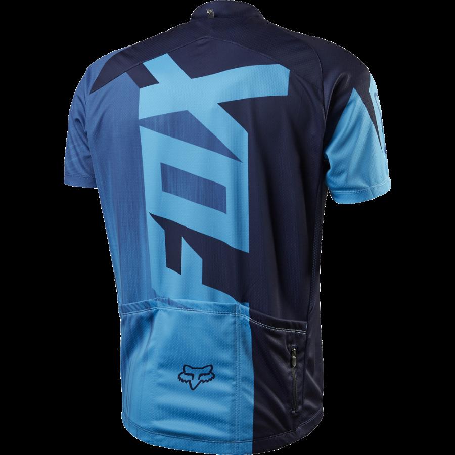 Велофутболка Fox Livewire Race SS Jersey, черно-синяя (Размер  S (12265-002-S))