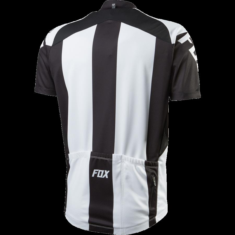 Велофутболка Fox Livewire Race SS Jersey, черно-белая (Размер L (12265-018-L))
