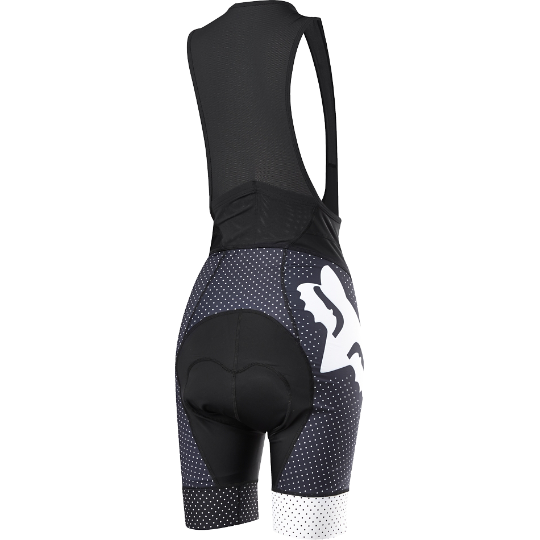 Велотрусы женские с лямками Fox Switchback Comp Womens Bib, черно-серые, полиэстер (Размер M (15265-001-M))