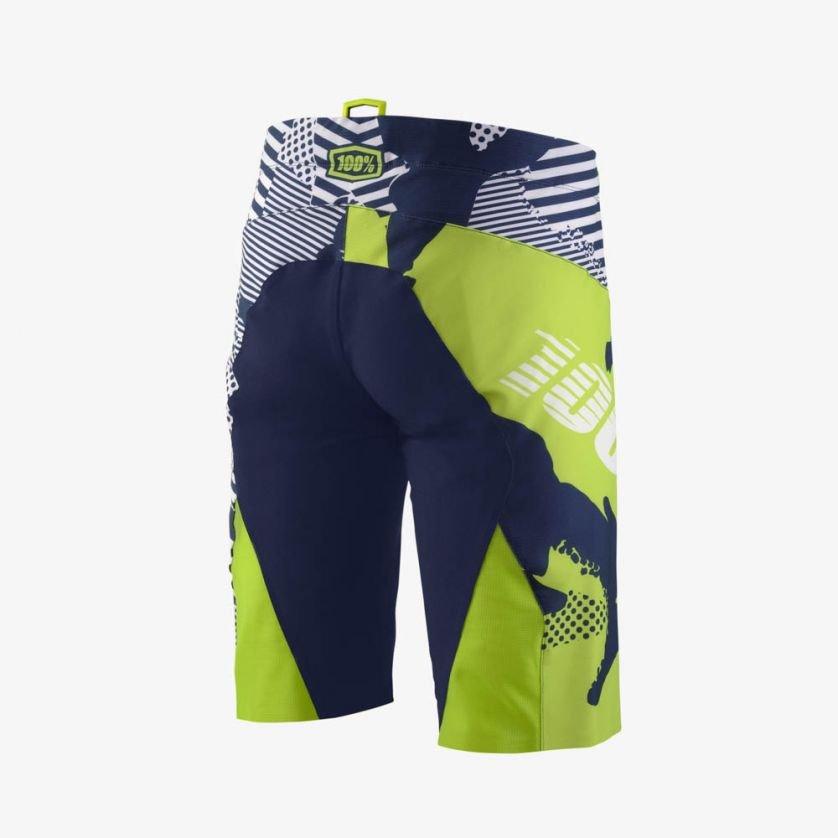 Велошорты 100% R-Core-X DH Short, бело-синий (2018) (Размер: 34 (L))