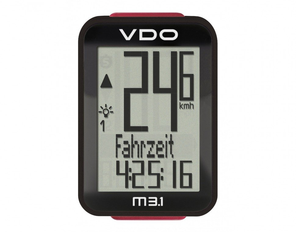 Велокомпьютер VDO M3.1WL, 17(+3) функций, беспроводной, опция каденс, черный, 4-30035