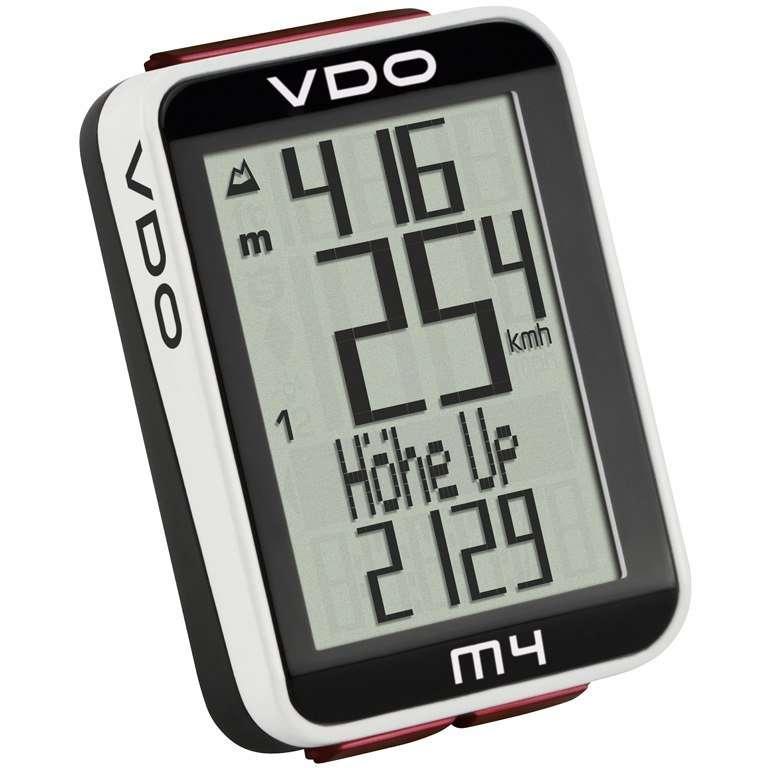 Велокомпьютер VDO M4.1, 17(+17) функций, альтметр, температура, подсветка, черный, 4-30040