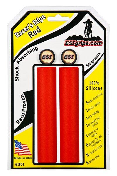 Грипсы ESI Racer's Edge, 130 мм, силикон, красный, GIF04