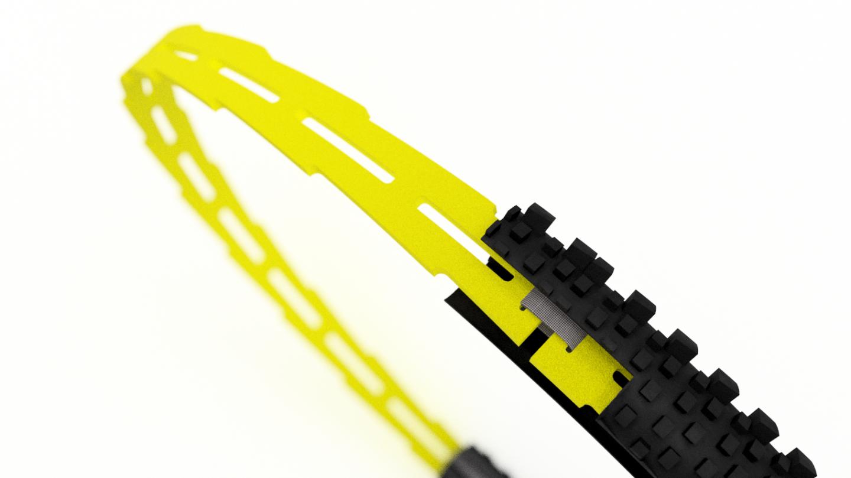 Система антипробоя для велосипеда HuckNorris, комплект с крылом, L, HN-P-L