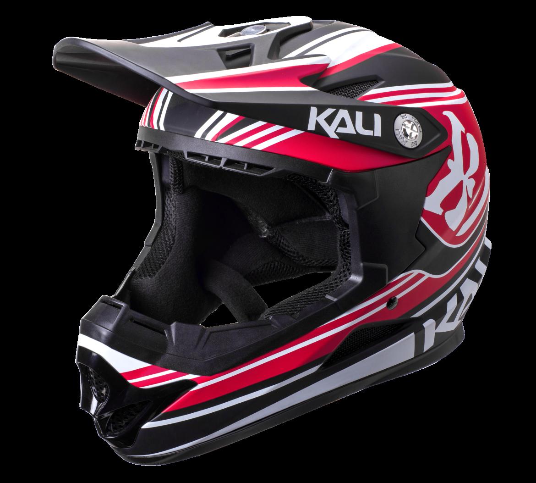 Велошлем KALI Naka Slash, красно-черный (Размер: M (55-58 см))