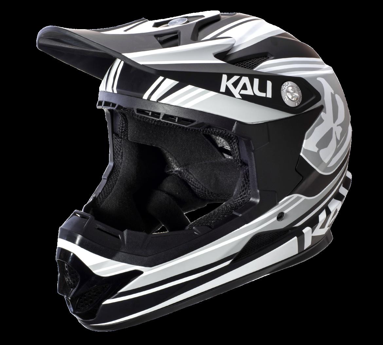 Велошлем KALI Naka Slash, серо-черный (Размер: S (55-56 см))