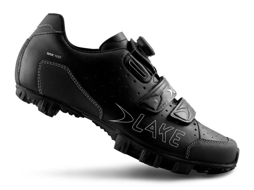 Велообувь Lake MX168-X, черно-серебристый (Размер: 45)