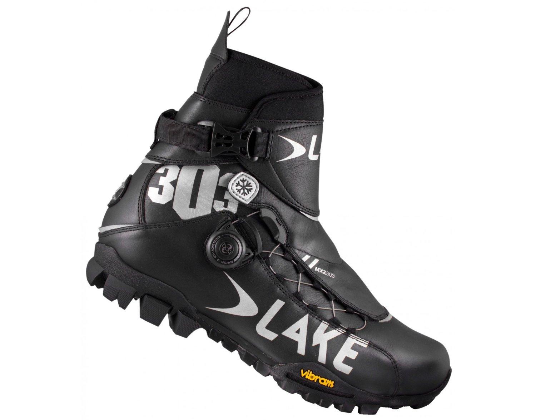 Велообувь зимняя Lake MXZ303, черно-серый (Размер: 44 )