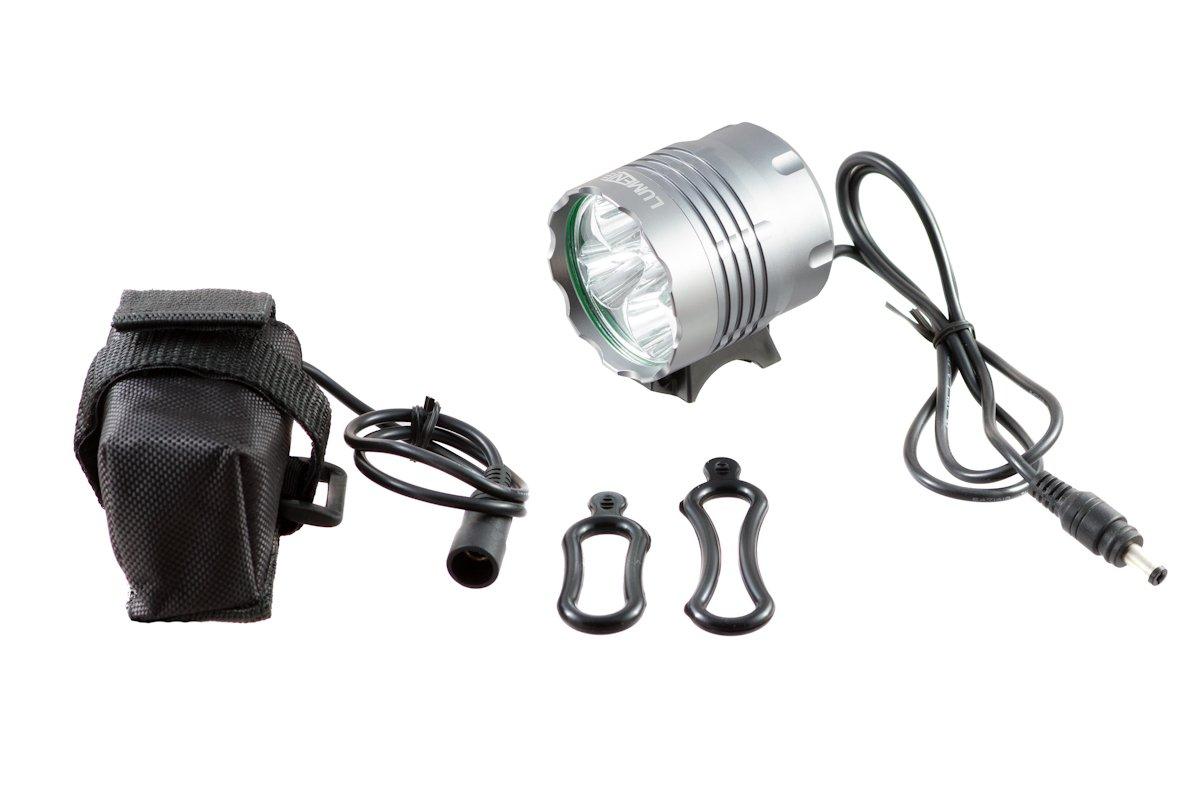 Фонарь передний Lumen 305, 6000 lumens, 5 Cree XML-T6 серый, EBL305