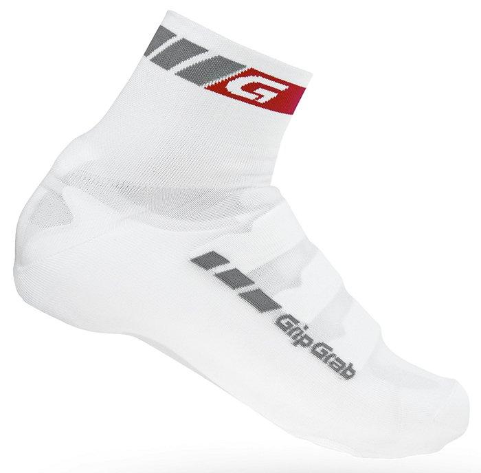 Велобахилы GripGrab Cover Sock, отверстия под шипы, эластичный манжет, белый (Рзамер S)