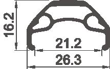 """Обод Rodi BLACKROCK 21, 27,5"""", 584x21C, 32H, пистонированный , 511 г, черный, 3121Q32PH0"""
