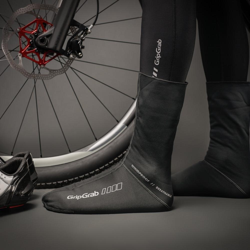 Велоноски GripGrab WindProof Sock, ветро- водозащита, анатомический крой, черный ( Размер S (38-39))