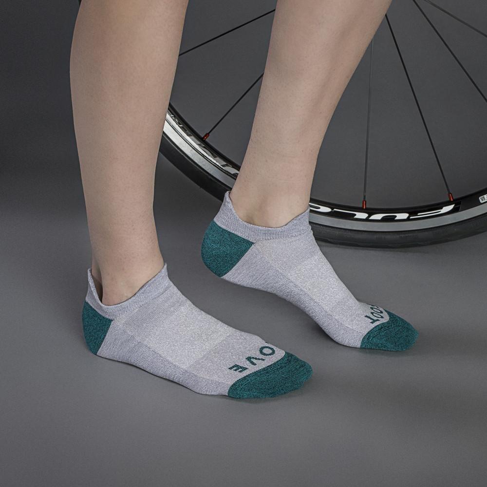 Велоноски женские GripGrab Classic Sock No Show, безшовные, сетчатые зоны, серый (Размер XS (35 - 38))