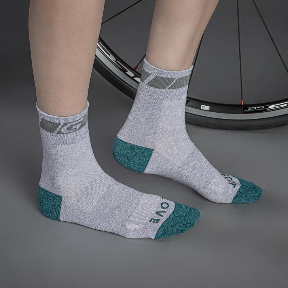 Велоноски женские GripGrab Classic Sock Regular Cut, поддержка стопы, сетчатые зоны, серый (Размер S (38 - 41))