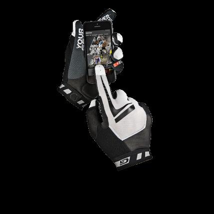 Велоперчатки GripGrab Racing, работают с сенсорным экраном, черно-белый (Размер M)