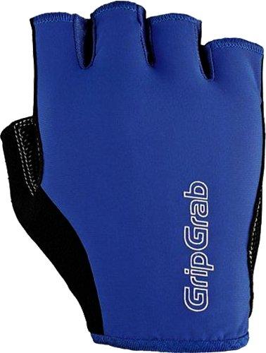 Велоперчатки GripGrab Short X-Trainer, смягчающие накладки, эластичная лайкра, синий (Размер XL (11))