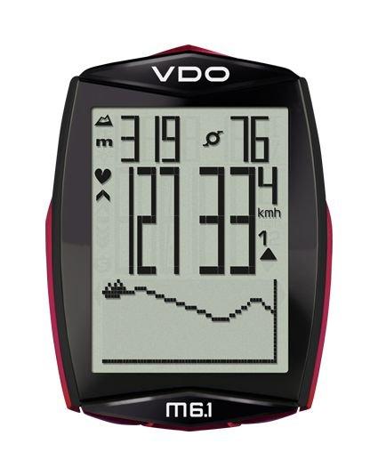 Велокомпьютер VDO M6.1WL, 13+10(+13+3) функ., беспров., альт., темп., датчик пульса в компл. 4-30065