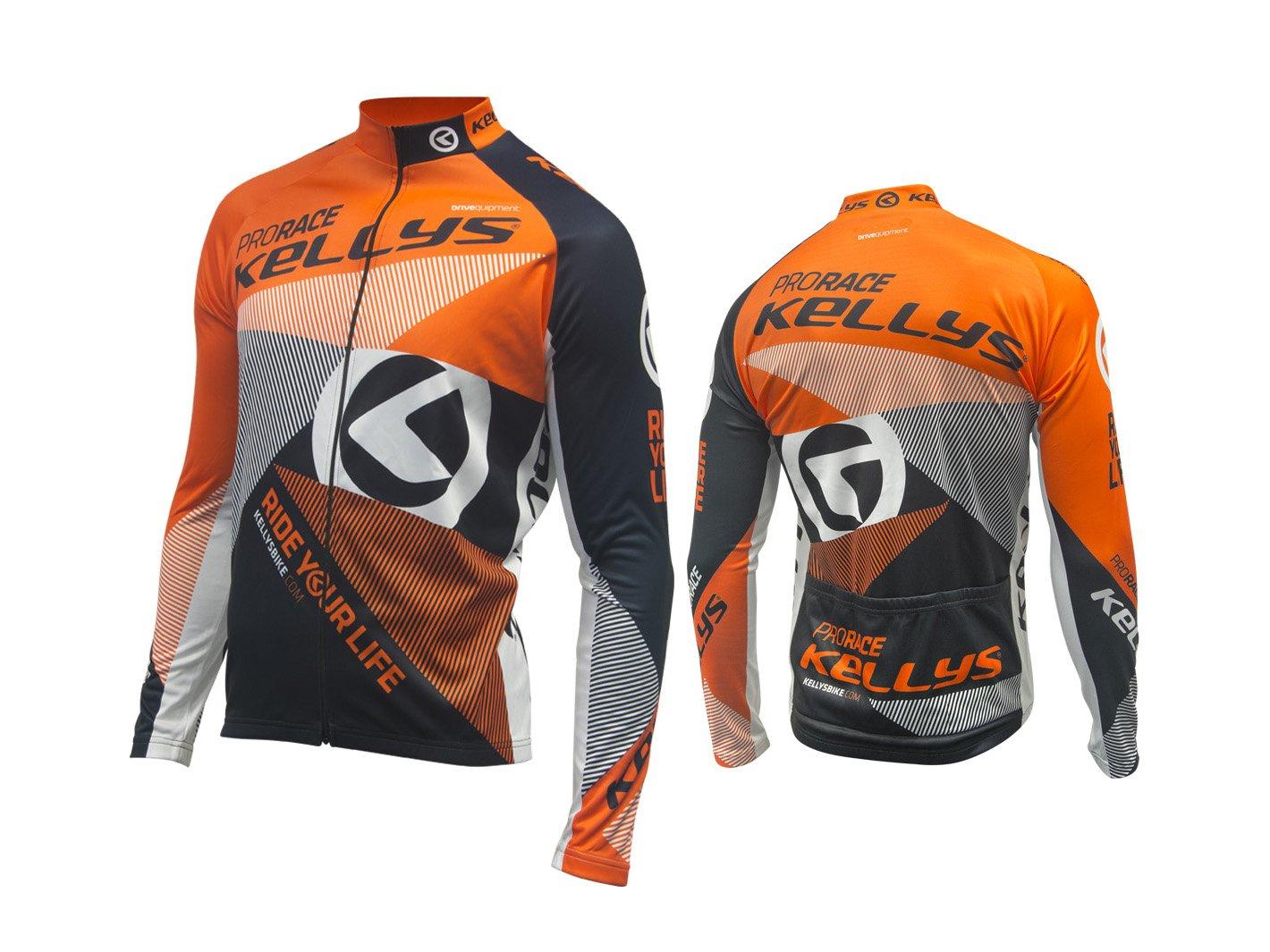 Джерси KELLYS Pro RACE, с длинным рукавом, оранжевый, S (Размер S)