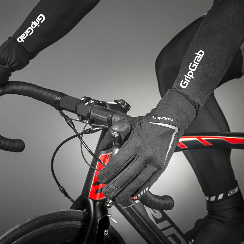 Велоперчатки зимние GripGrab Cloudburst, силиконовые вставки, гелевые накладки, черный (Размер XL)