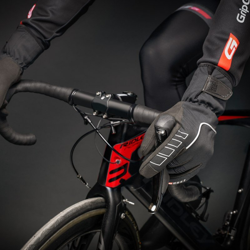 Велоперчатки зимние GripGrab Nordic Gloves, ветро- влагозащита, гелевые вставки, черный (Размер XXL)