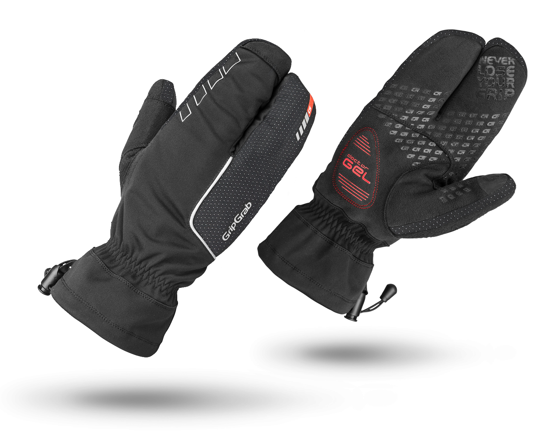 Велоперчатки зимние GripGrab Nordic, ветро- влагозащита, гелевые вставки, черный (Размер XXL)