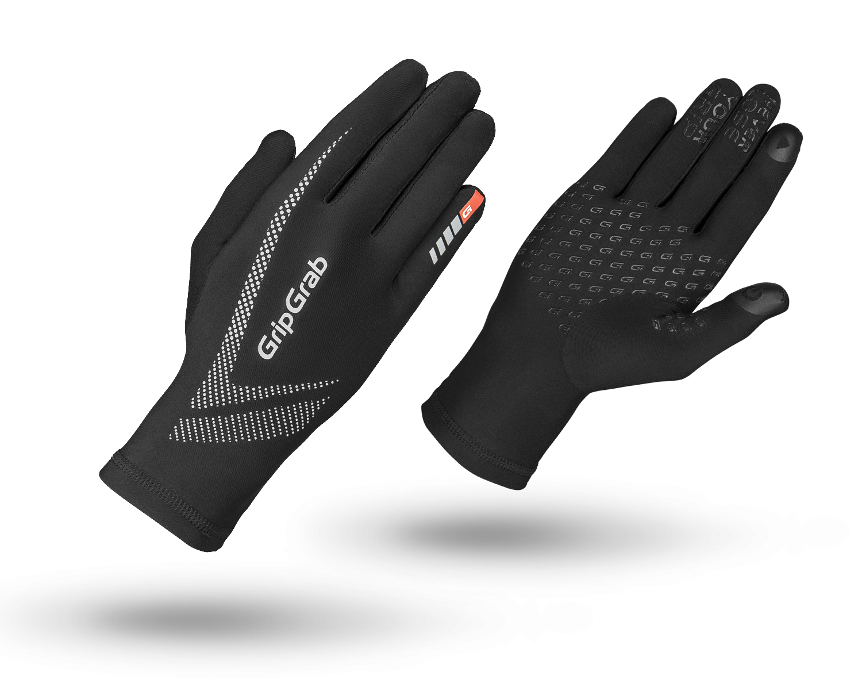 Велоперчатки зимние GripGrab Running Ultralight, воздухопроницаемость, черный (Размер XS (7))