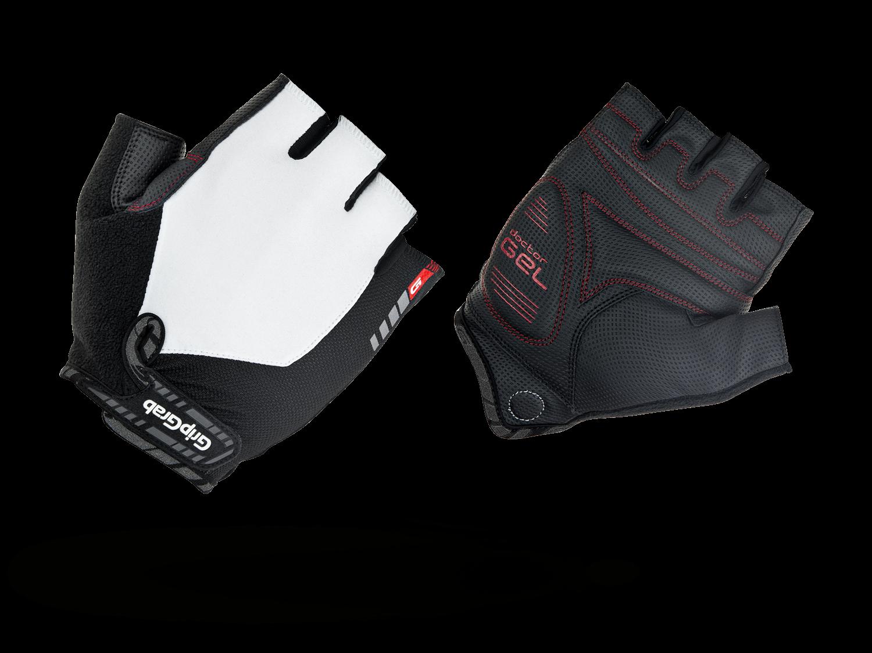 Велоперчатки короткие GripGrab ProGel, синтетисческая кожа, гелевые накладки, белый (Размер XXL)