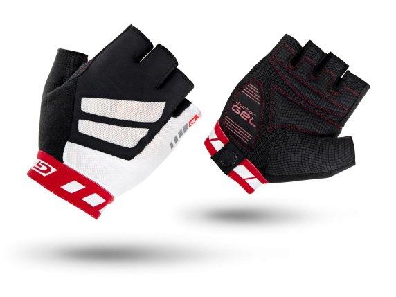 Велоперчатки короткие GripGrab WorldCup, гелевые вставки, красно-белые (Размер L)