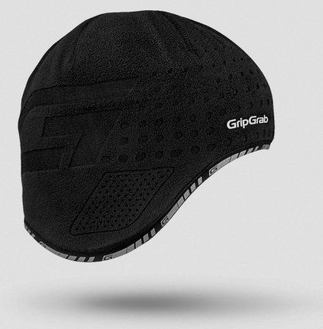 Шапка GripGrab Aviator Cap, ветрозащита, плоский шов, черный (Размер S)