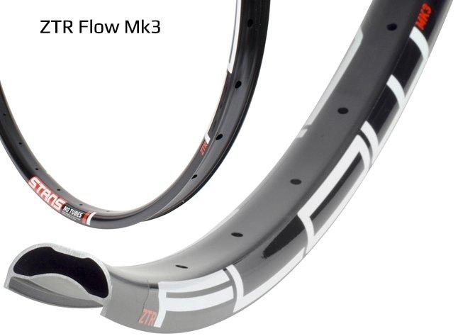 """Обод 27.5"""" Stans NoTubes ZTR Flow MK3, 32H, черный, наклейка белый/красный 485C, RTFT70003"""