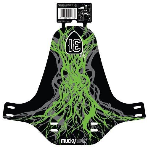 Крыло переднее Mucky Nutz Face Fender Jerome Clementz, зеленый, MN0111