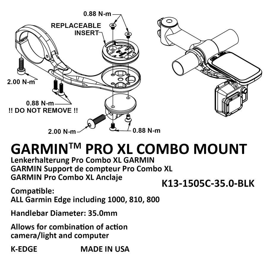 Крепление K-EDGE Go Big Pro On-Center Mount, 31,8mm, черный, K13-1440-31.8-BLK